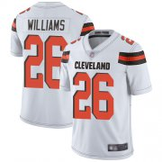 Wholesale Cheap Nike Browns #26 Greedy Williams White Men's Stitched NFL Vapor Untouchable Limited Jersey