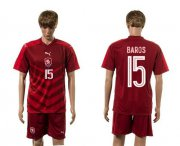 Wholesale Cheap Czech #15 Baros Red Home Soccer Country Jersey