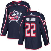 Wholesale Cheap Adidas Blue Jackets #22 Sonny Milano Navy Blue Home Authentic Stitched Youth NHL Jersey