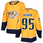 Wholesale Cheap Adidas Predators #95 Matt Duchene Yellow Home Authentic Stitched NHL Jersey