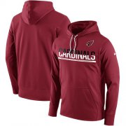 Wholesale Cheap Men's Arizona Cardinals Nike Cardinal Sideline Circuit Pullover Performance Hoodie