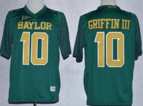 Wholesale Cheap Baylor Bears #10 Robert Griffin III 2013 Green Jersey