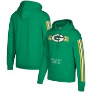 Wholesale Cheap Green Bay Packers Mitchell & Ness Three Stripe Pullover Hoodie Green