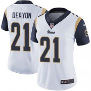 Wholesale Cheap Nike Rams #21 Donte Deayon White Women's Stitched NFL Vapor Untouchable Limited Jersey