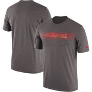 Wholesale Cheap San Francisco 49ers Nike Sideline Seismic Legend Performance T-Shirt Charcoal