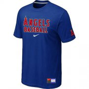 Wholesale Cheap Los Angeles Angels Nike Short Sleeve Practice MLB T-Shirt Blue