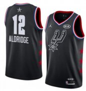 Wholesale Cheap San Antonio Spurs #12 LaMarcus Aldridge Black Basketball Jordan Swingman 2019 All-Star Game Jersey