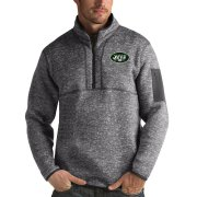 Wholesale Cheap New York Jets Antigua Fortune Quarter-Zip Pullover Jacket Charcoal