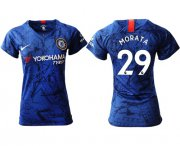 Wholesale Cheap Women's Chelsea #29 Morata Home Soccer Club Jersey