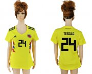 Wholesale Cheap Women's Colombia #24 W.Tesillo Home Soccer Country Jersey
