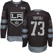 Wholesale Cheap Adidas Kings #73 Tyler Toffoli Black 1917-2017 100th Anniversary Stitched NHL Jersey
