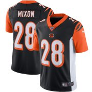 Wholesale Cheap Cincinnati Bengals #28 Joe Mixon Nike 100th Season Vapor Limited Jersey Black