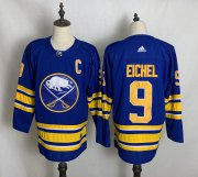 Wholesale Cheap Men's Buffalo Sabres #9 Jack Eichel Blue Adidas 2020-21 Alternate Authentic Player NHL Jersey