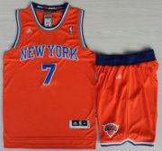 Wholesale Cheap New York Knicks #7 Carmelo Anthony Orange Revolution 30 Swingman Jersey Shorts Suits