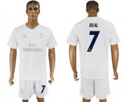 Wholesale Cheap Real Madrid #7 Rual Marine Environmental Protection Home Soccer Club Jersey