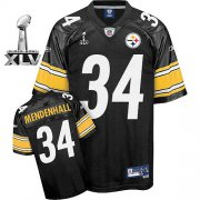 Wholesale Cheap Steelers #34 Rashard Mendenhall Black Super Bowl XLV Stitched NFL Jersey