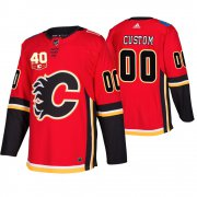 Wholesale Cheap Adidas Calgary Flames Custom 40th Anniversary Third Red 2019-20 NHL Jersey