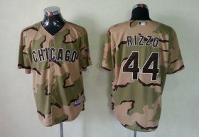 Wholesale Cubs #44 Anthony Rizzo Camo Commemorative Military Day Cool Base Stitched Baseball Jersey