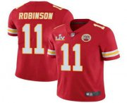 Wholesale Cheap Men's Kansas City Chiefs #11 Demarcus Robinson Red 2021 Super Bowl LV Limited Stitched NFL Jersey