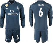 Wholesale Cheap Real Madrid #6 Nacho Away Long Sleeves Soccer Club Jersey