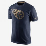 Wholesale Cheap Men's Tennessee Titans Nike Navy Championship Drive Gold Collection Performance T-Shirt