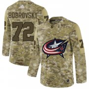 Wholesale Men's Columbus Blue Jackets Black Camo Stack Pullover Hoodie