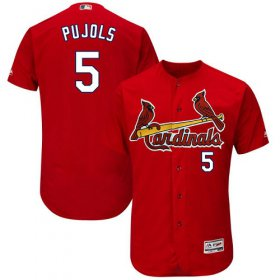 Wholesale Cheap Cardinals #5 Albert Pujols Red Flexbase Authentic Collection Stitched MLB Jersey