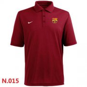 Wholesale Cheap Nike Barcelona FC Textured Solid Performance Polo Red