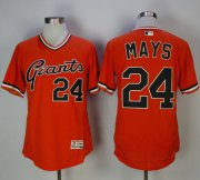Wholesale Cheap Giants #24 Willie Mays Orange Flexbase Authentic Collection Cooperstown Stitched MLB Jersey
