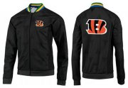 Wholesale Cheap NFL Cincinnati Bengals Team Logo Jacket Black_4