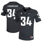 Wholesale Cheap Washington State Cougars 34 Jalen Thompson Black College Football Jersey