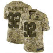 Wholesale Cheap Nike Saints #92 Marcus Davenport Camo Youth Stitched NFL Limited 2018 Salute to Service Jersey
