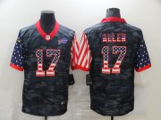 Wholesale Cheap Men's Buffalo Bills #17 Josh Allen USA Camo 2020 Salute To Service Stitched NFL Nike Limited Jersey