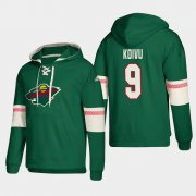Wholesale Cheap Minnesota Wild #9 Mikko Koivu Green adidas Lace-Up Pullover Hoodie