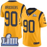 Wholesale Cheap Nike Rams #90 Michael Brockers Gold Super Bowl LIII Bound Men's Stitched NFL Limited Rush Jersey