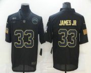 Wholesale Cheap Men's Los Angeles Chargers #33 Derwin James Jr Black 2020 Salute To Service Stitched NFL Nike Limited Jersey