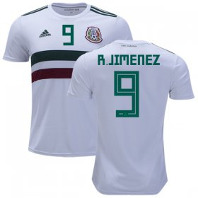 Wholesale Cheap Mexico #9 R.Jimenez Away Kid Soccer Country Jersey