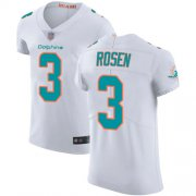Wholesale Cheap Nike Dolphins #3 Josh Rosen White Men's Stitched NFL Vapor Untouchable Elite Jersey
