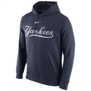 Wholesale Cheap New York Yankees Nike Club Pullover Navy Blue MLB Hoodie