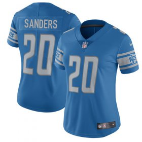 Wholesale Cheap Nike Lions #20 Barry Sanders Light Blue Team Color Women\'s Stitched NFL Vapor Untouchable Limited Jersey
