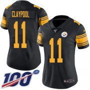 Wholesale Cheap Nike Steelers #11 Chase Claypool Black Women's Stitched NFL Limited Rush 100th Season Jersey