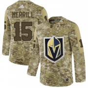 Wholesale Cheap Adidas Golden Knights #15 Jon Merrill Camo Authentic Stitched NHL Jersey