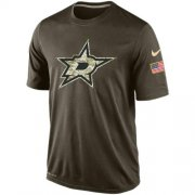 Wholesale Cheap Men's Dallas Stars Salute To Service Nike Dri-FIT T-Shirt