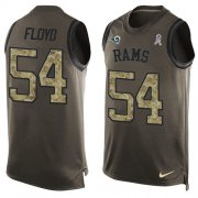 Wholesale Cheap Nike Rams #54 Leonard Floyd Green Men's Stitched NFL Limited Salute To Service Tank Top Jersey