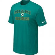 Wholesale Cheap Nike NFL Miami Dolphins Heart & Soul NFL T-Shirt Teal Green