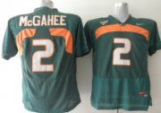 Wholesale Cheap Miami Hurricanes #2 McGahee Green Jersey