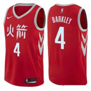 Wholesale Cheap Houston Rockets #4 Charles Barkley Red Nike NBA Men's Stitched Swingman Jersey City Edition