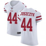Wholesale Cheap Nike 49ers #44 Kyle Juszczyk White Men's Stitched NFL Vapor Untouchable Elite Jersey