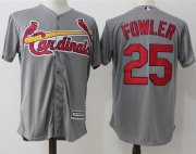 Wholesale Cheap Cardinals #25 Dexter Fowler Grey New Cool Base Stitched MLB Jersey