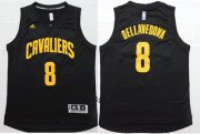 Wholesale Cheap Men's Cleveland Cavaliers #8 Matthew Dellavedova Revolution 30 Swingman Black With Gold Jersey